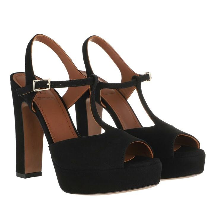 Schuh, L´Autre Chose, Heel Kid Sandals Suede Black