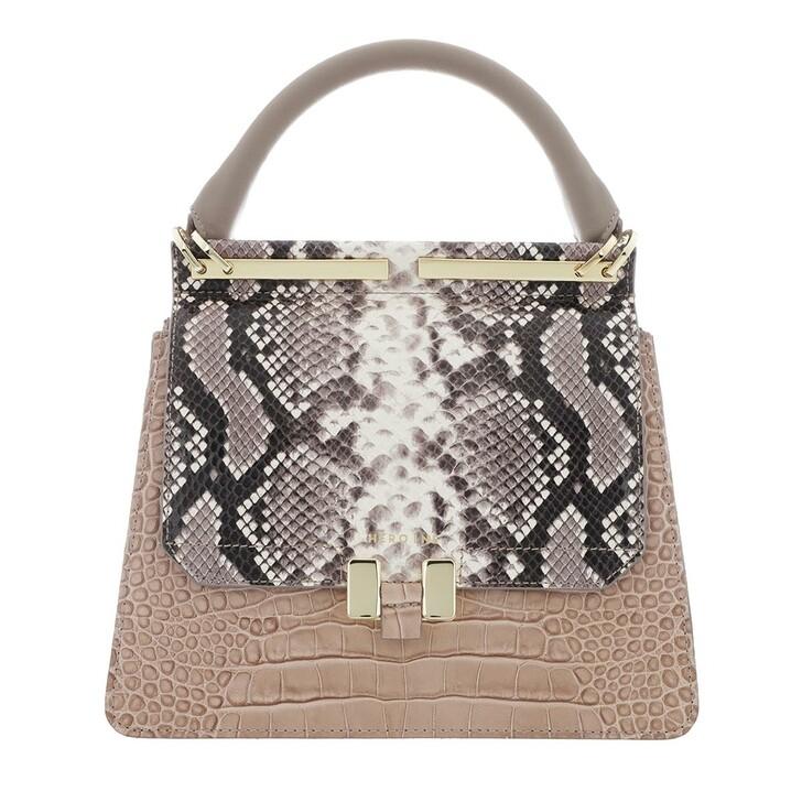 Handtasche, Maison Hēroïne, Marlene Tablet Mini Handle Bag Taupe