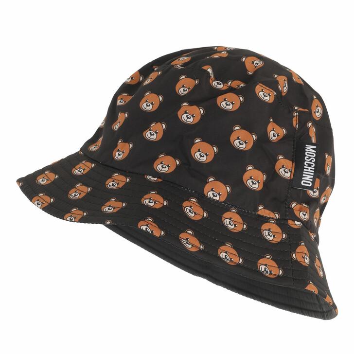 hats, Moschino, Hat Black