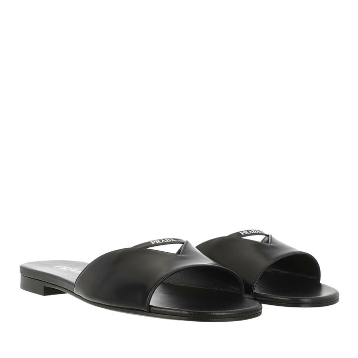 Schuh, Prada, Strap Slipper Leather Black