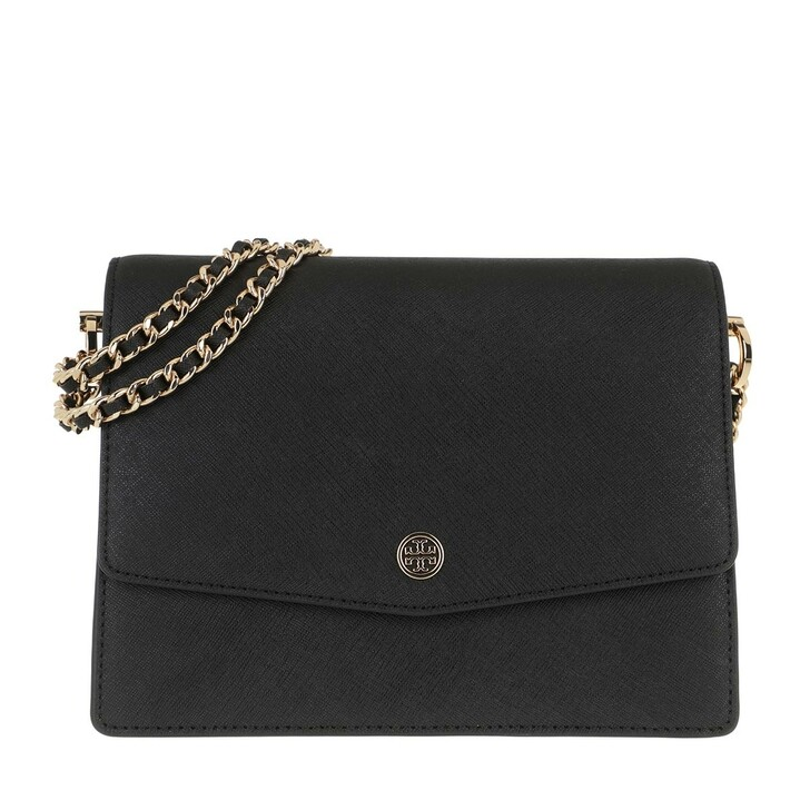 Handtasche, Tory Burch, Robinson Convertible Shoulder Bag Black