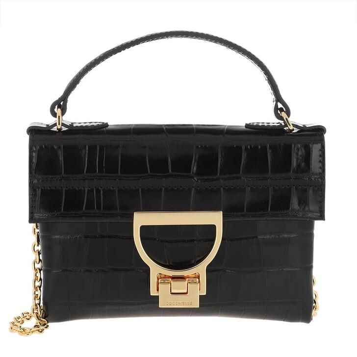 Handtasche, Coccinelle, Mignon Croco Shiny Soft Crossbody Bag Noir
