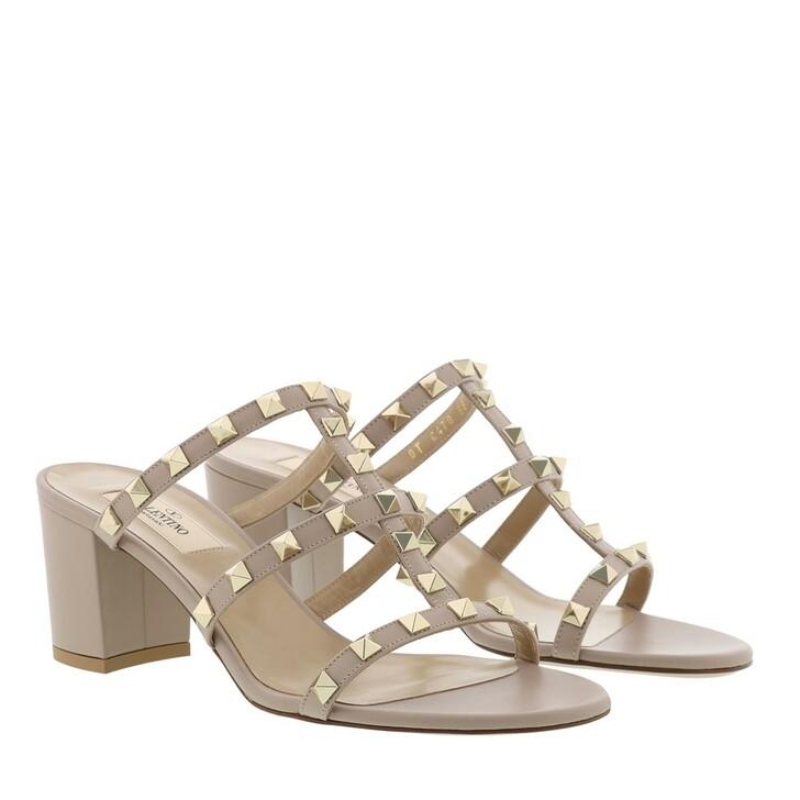 Schuh, Valentino Garavani, Rockstud Sandals Poudre