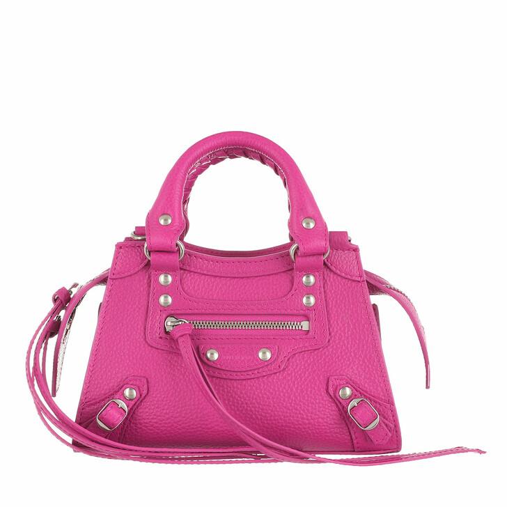 Handtasche, Balenciaga, Nano Neo Classic Crossbody Bag Pink