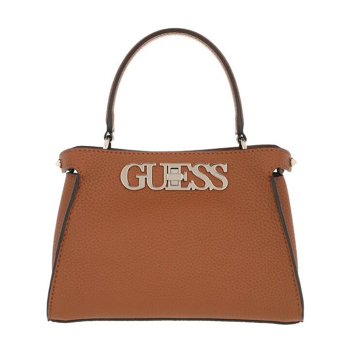 Handtasche, Guess, Uptown Chic Small Satchel Bag Cognac