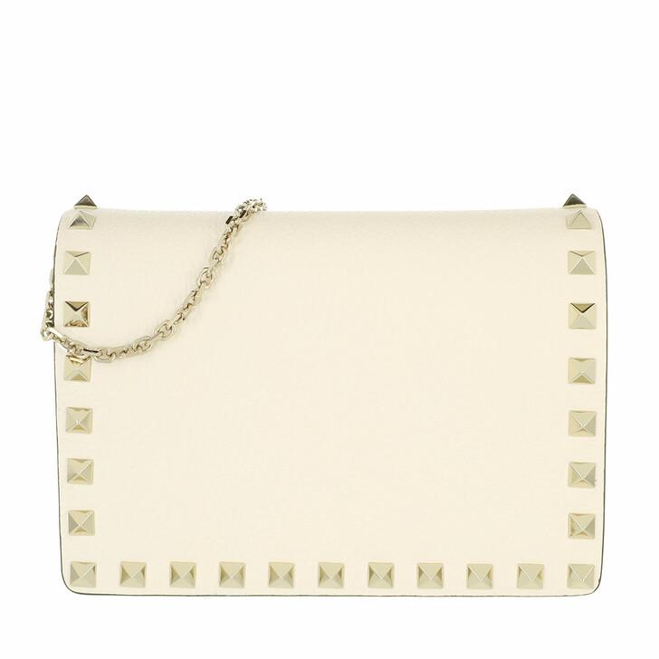 bags, Valentino Garavani, Rockstud Crossbody Bag Light Ivory