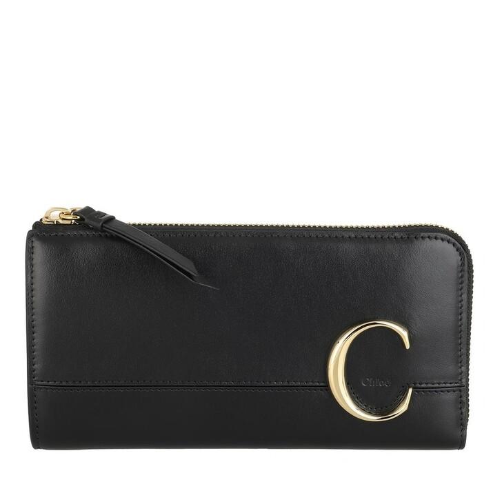 Geldbörse, Chloé, Wallet Leather Black