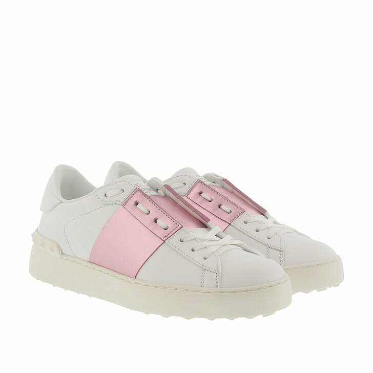 Schuh, Valentino Garavani, Bicolor Rockstud Sneaker White/Water Rose