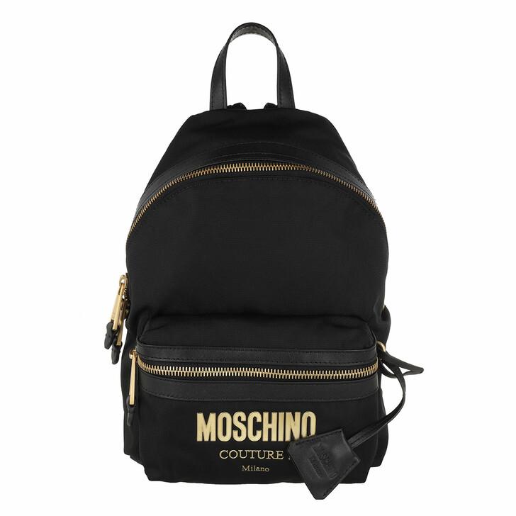 Reisetasche, Moschino, Backpack Nero