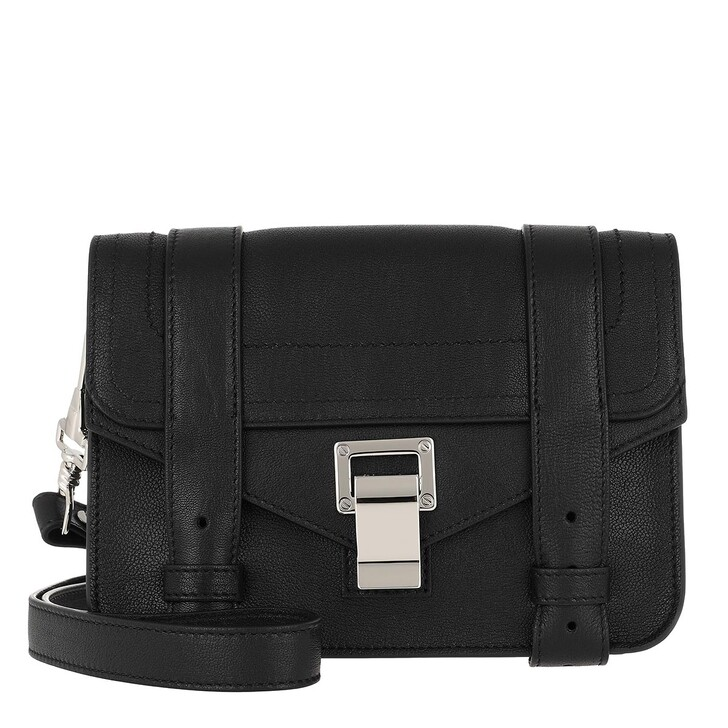 Handtasche, Proenza Schouler, PS1 Mini Crossbody Bag Lamb Leather Black