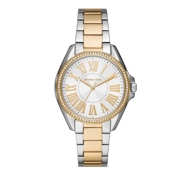 watches, Michael Kors, Women Kacie Three-Hand Stainless Steel Watch Two-Tone