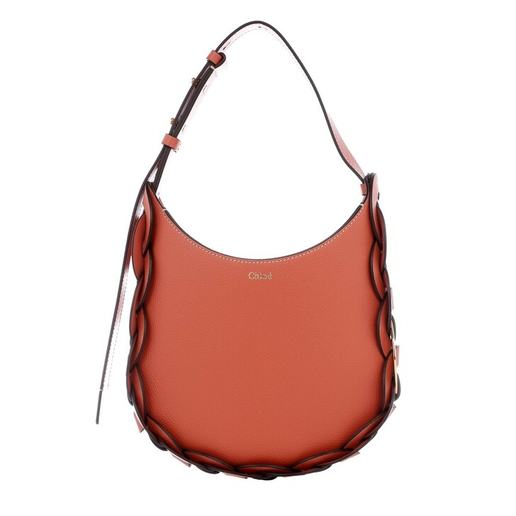 Handtasche, Chloé, Darryl Small Hobo Bag Leather Tawny Orange
