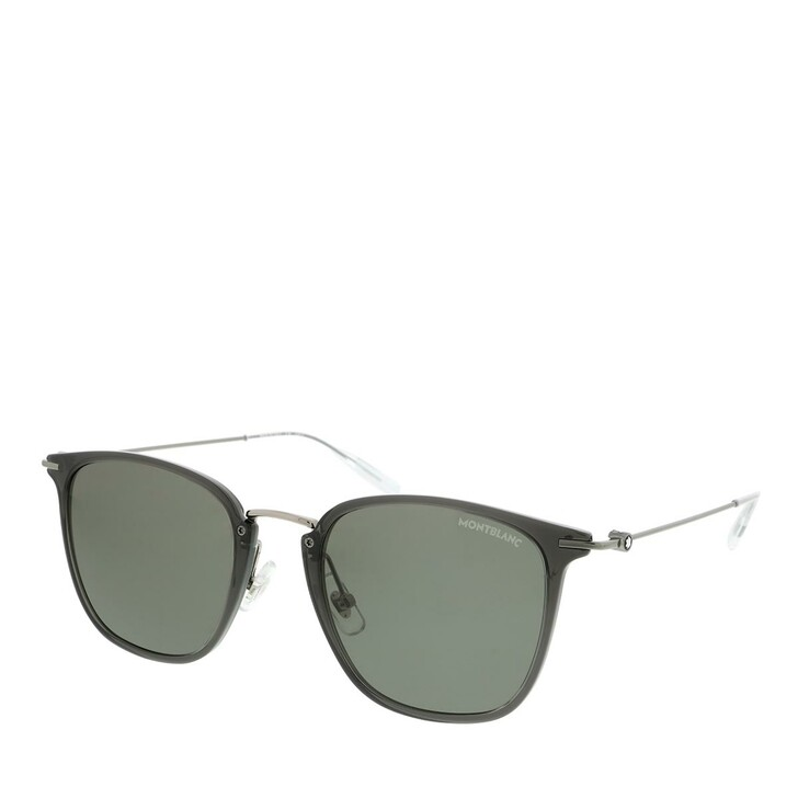 Sonnenbrille, Montblanc, MB0157SA-001 53 Sunglass MAN INJECTION GREY