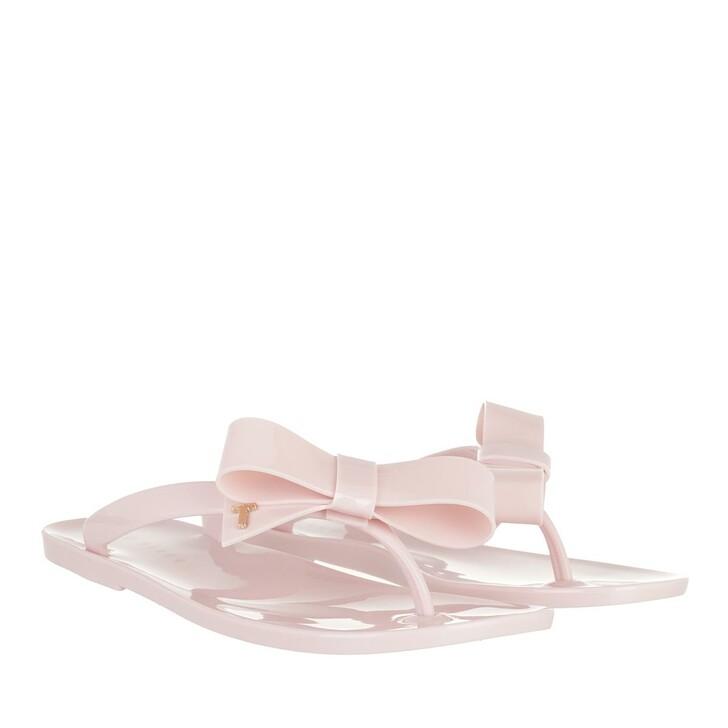 Schuh, Ted Baker, Bejouw Bow Detail Jelly Flip Flops Lt-Pink