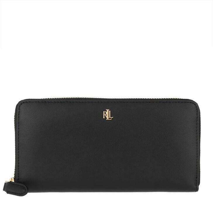 wallets, Lauren Ralph Lauren, Zip Cont Wallet Large Black/Crimson
