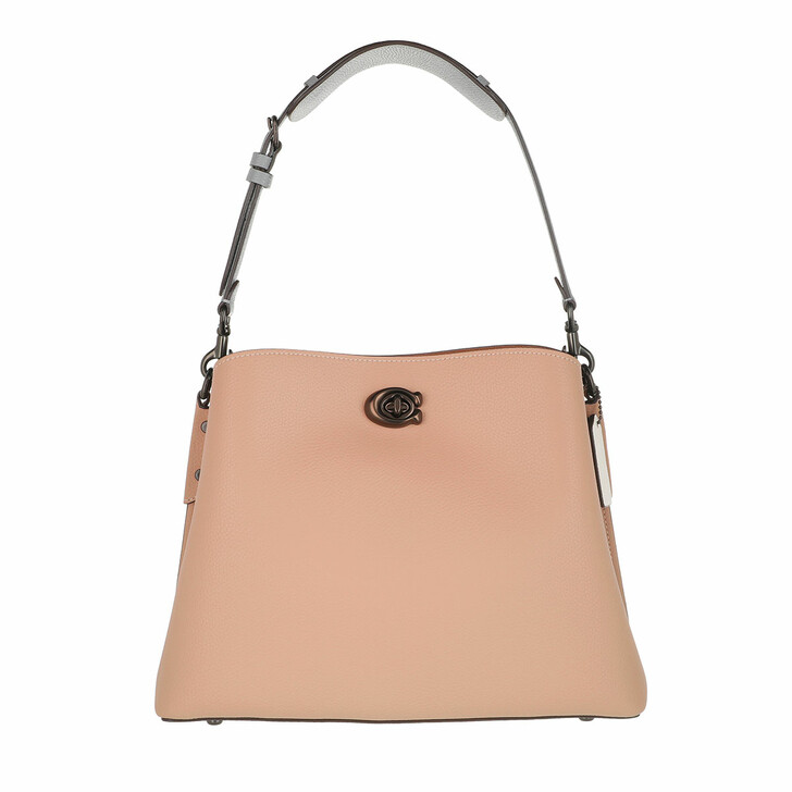 Handtasche, Coach, Colorblock Leather Willow Shoulder Bag Taupe Multi