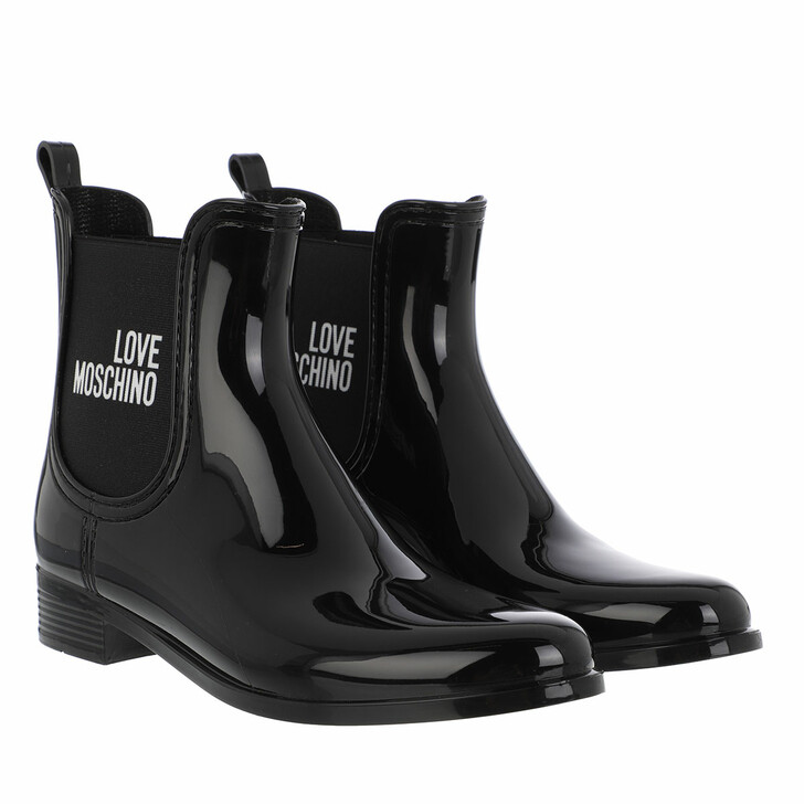 shoes, Love Moschino, Sca Nod Rainboot30 Pvc Nero