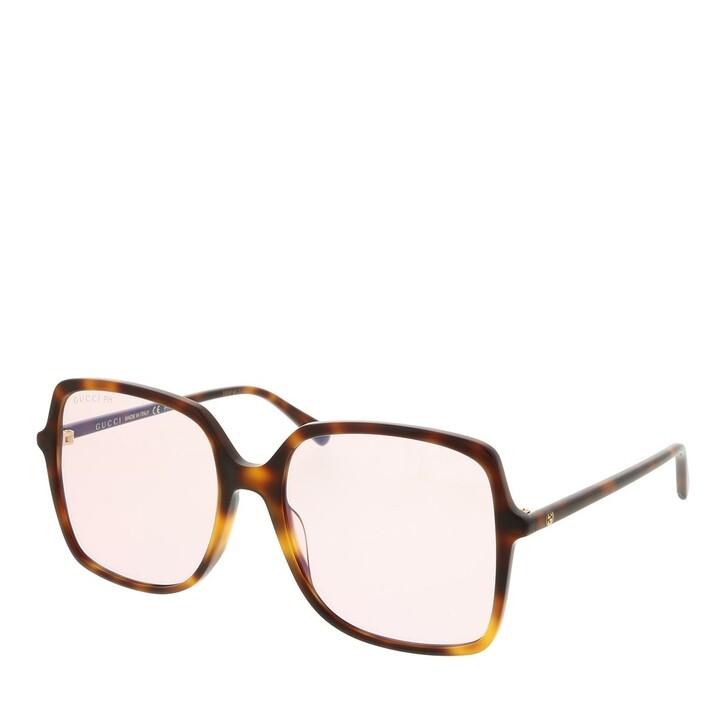 sunglasses, Gucci, GG0544S-006 57 Blue & Beyond Woman Sunglasses Havana-Pink