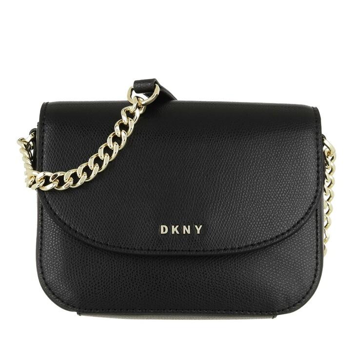 Handtasche, DKNY, Felicia Flap Crossbody Black Gold