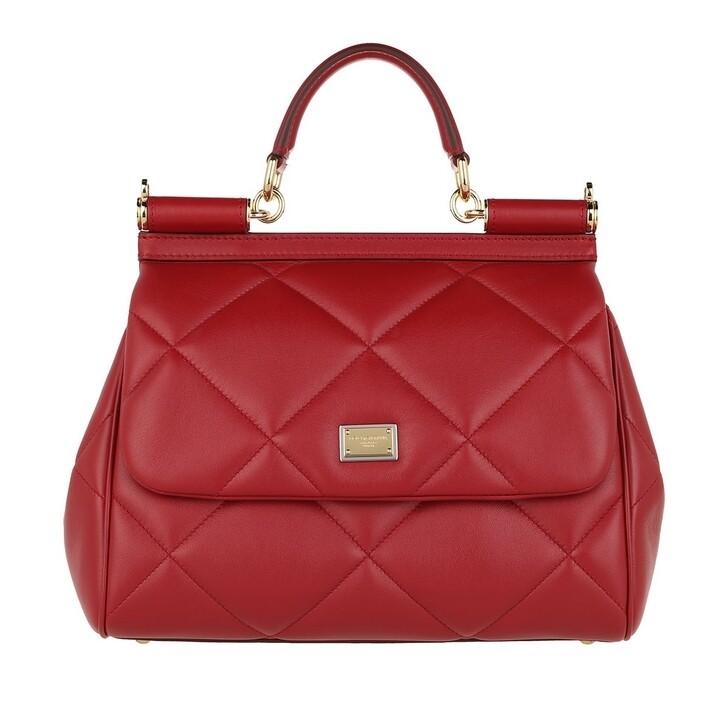 Handtasche, Dolce&Gabbana, Sicily Medium Handle Bag Red