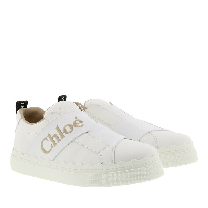 Schuh, Chloé, Lauren Sneakers Leather White