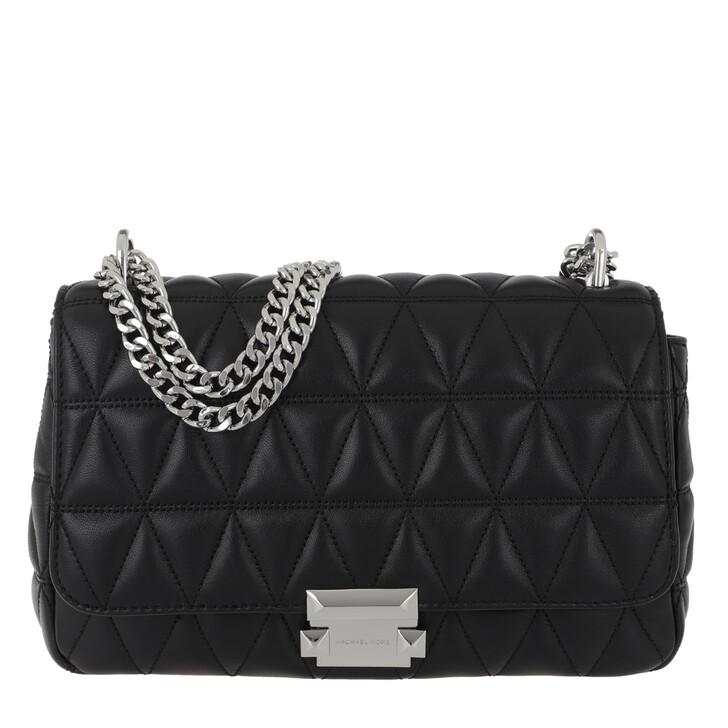 bags, MICHAEL Michael Kors, Sloan Large Chain Shoulder Bag Black