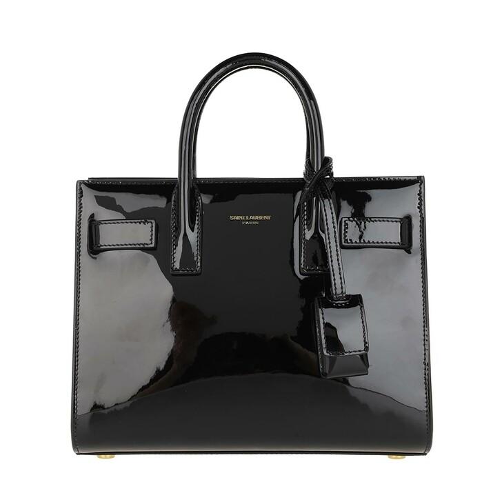 Handtasche, Saint Laurent, Nano Sac De Jour Crossbody Bag Leather Black