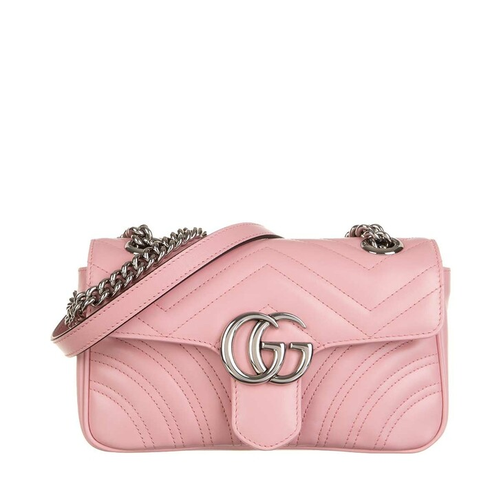 Handtasche, Gucci, GG Marmont Mini Bag Leather Wild Rose