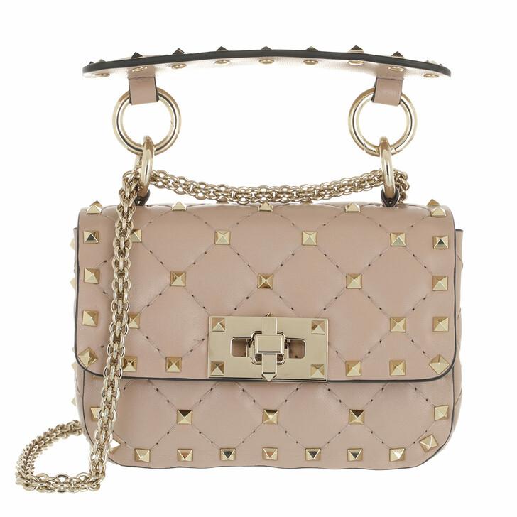 bags, Valentino Garavani, Micro Rockstud Spike Shoulder Bag Poudre