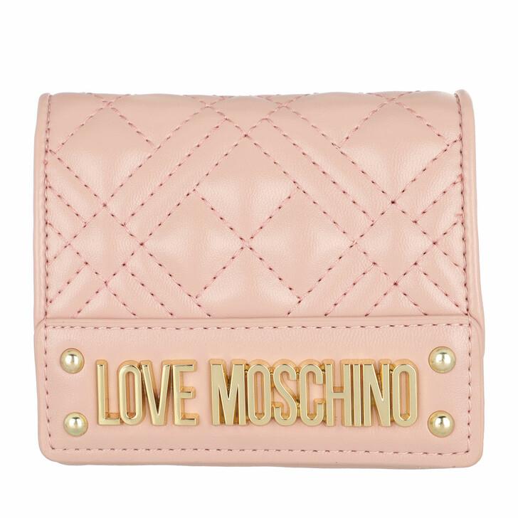 wallets, Love Moschino, Portafogli Quilted Nappa Rose