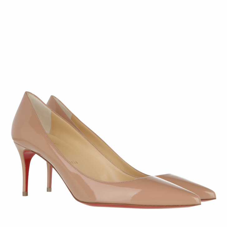 shoes, Christian Louboutin, Kate Pumps Patent Leather Nude