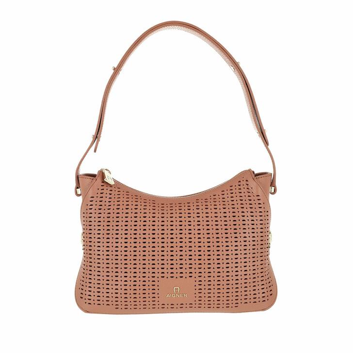 Handtasche, AIGNER, Milano Handle Bag Terra Brown