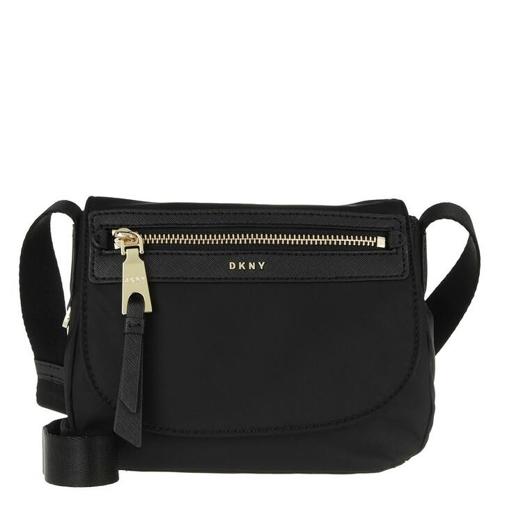 Handtasche, DKNY, Cora Flap Crossbody Black Gold