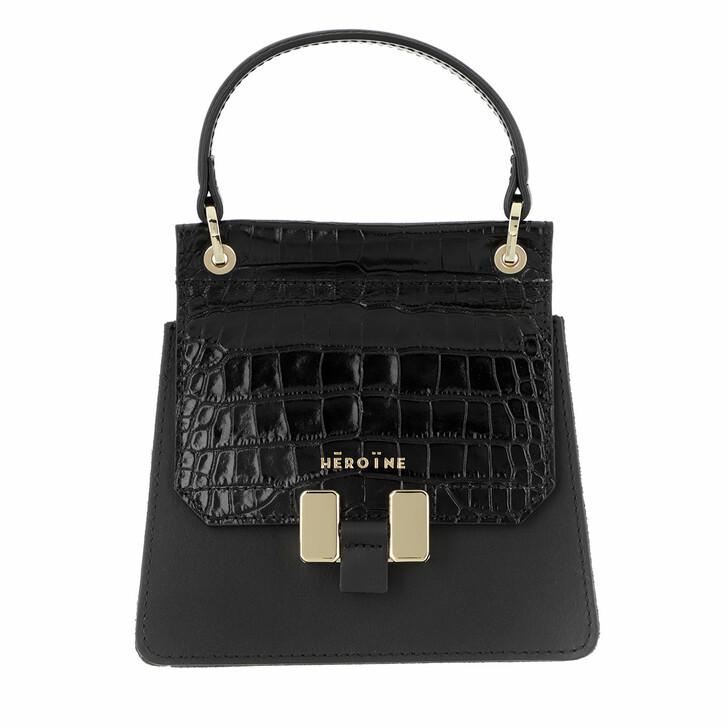 Handtasche, Maison Hēroïne, Marlene Petite Handle Bag Black