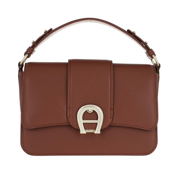 Handtasche, AIGNER, Verona Satchel Bag Cognac