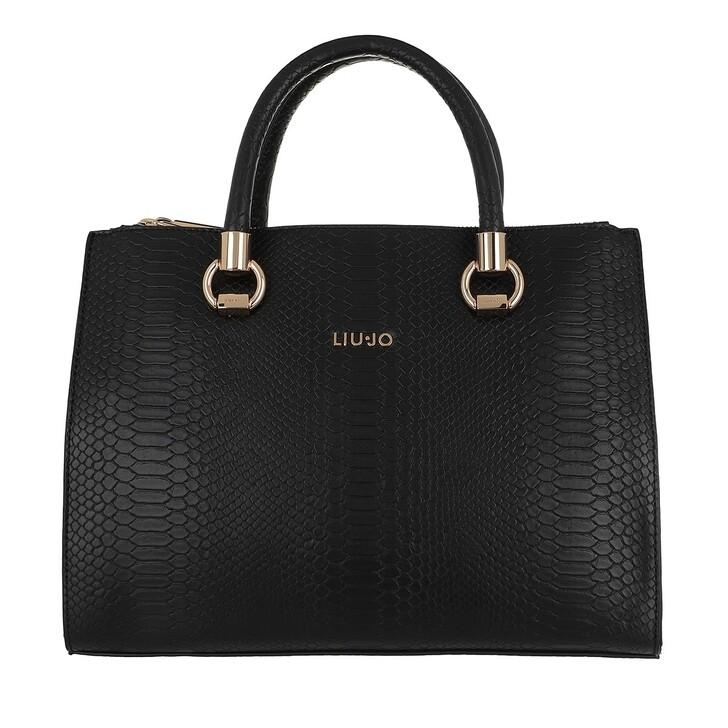 Handtasche, LIU JO, Medium Satchel Double Zip Nero