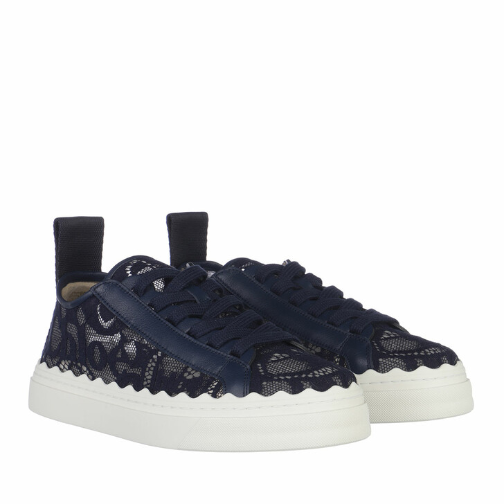 Schuh, Chloé, Lace Sneakers Blue Lagoon