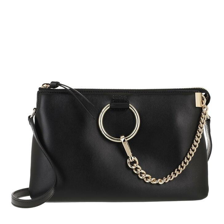 bags, Chloé, Faye Soft Zipped Shoulder Bag Black