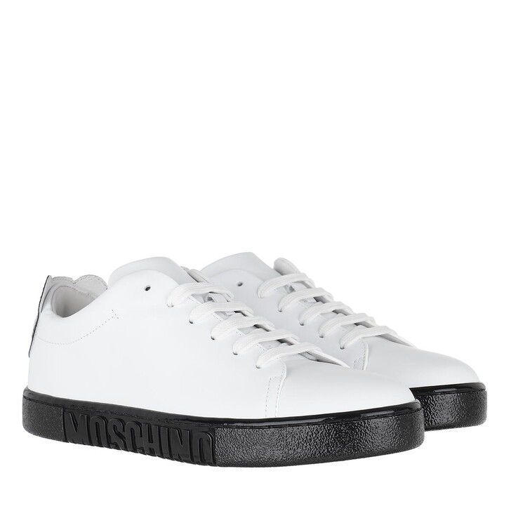 shoes, Moschino, Sneakers White Black