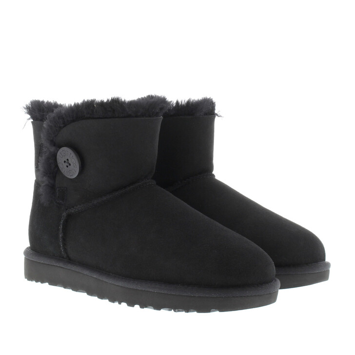 Schuh, UGG, W Mini Bailey Button II Black