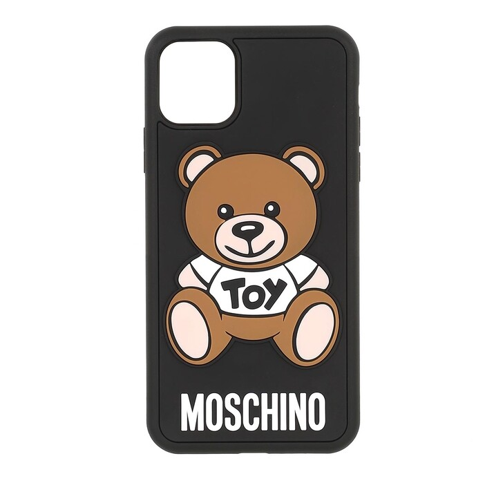 smart_cases, Moschino, Cover I-Phone 11 Pro Max Moschino Toy Fantasia Nero