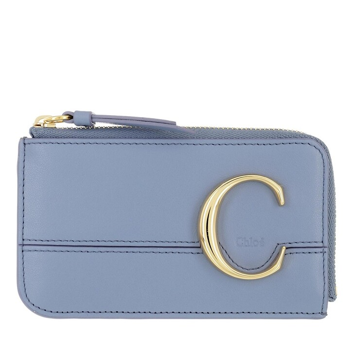 wallets, Chloé, Compact Wallet Gentle Blue