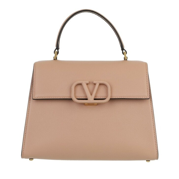 bags, Valentino Garavani, VSLING Handbag Leather Rose Cannelle