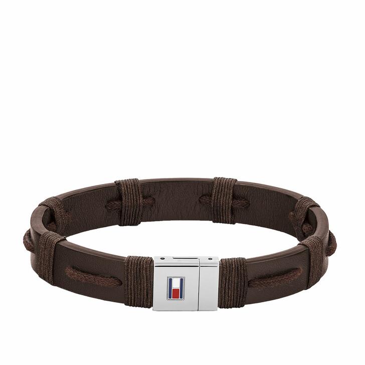 Armreif, Tommy Hilfiger, Bracelet CASUAL Leather Brown