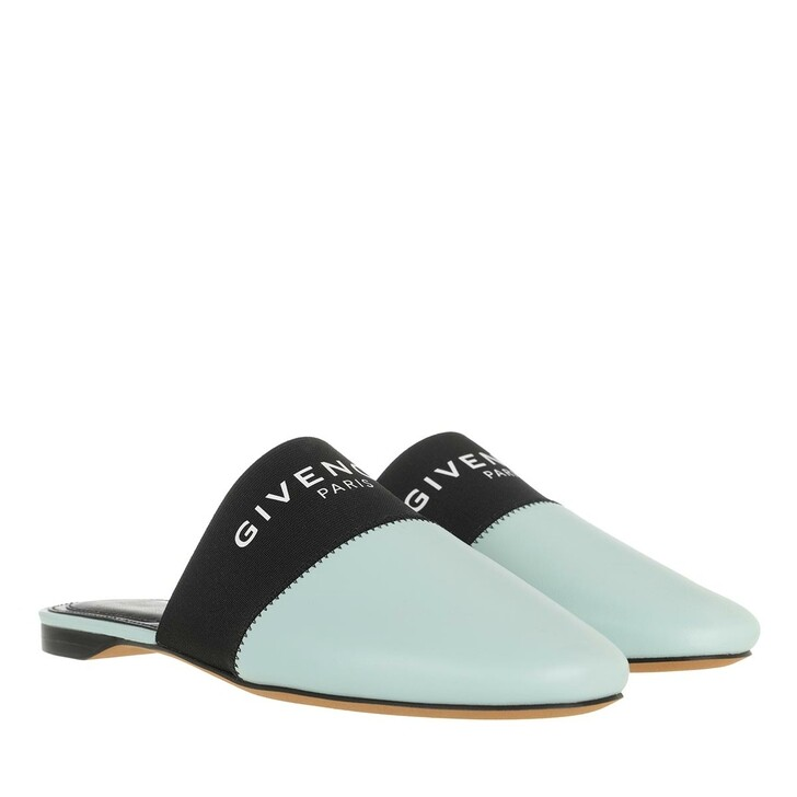 Schuh, Givenchy, Signature Logo Bedford Flat Mules Nappa leather Acqua Marine