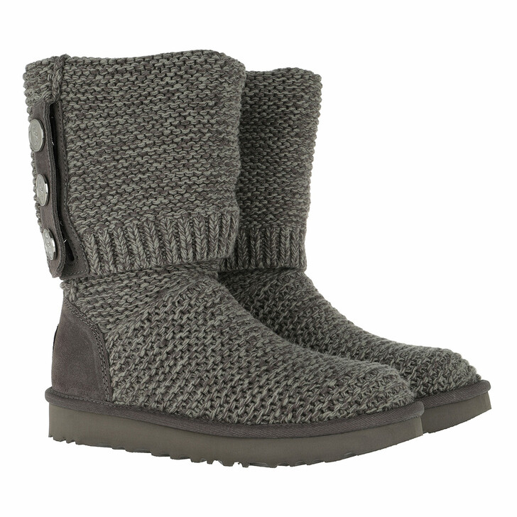 Schuh, UGG, W Purl Cardy Knit Charcoal