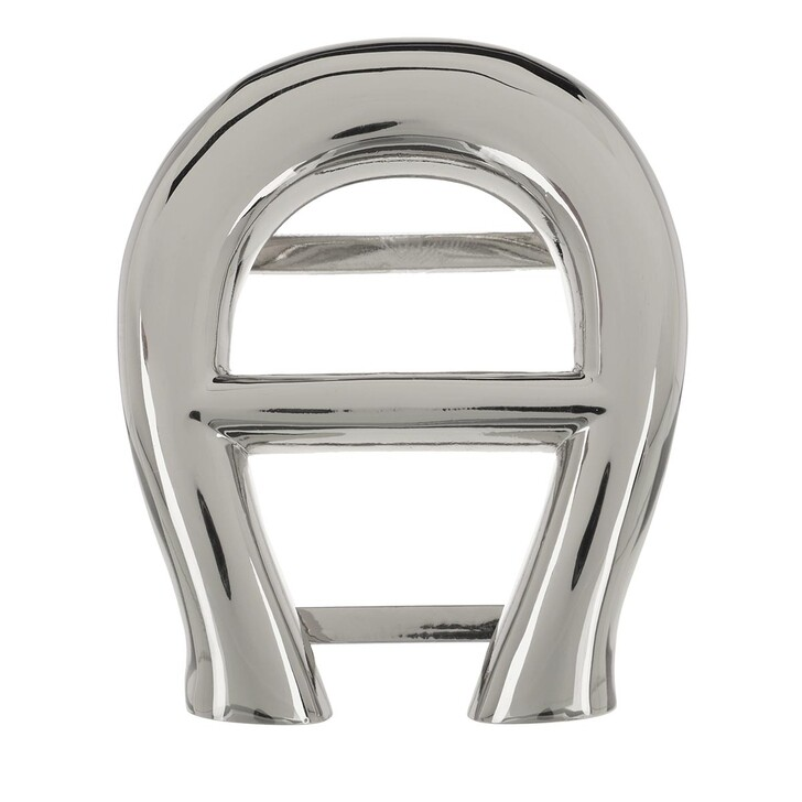 Schal, AIGNER, Logo Scarf Buckle Silver