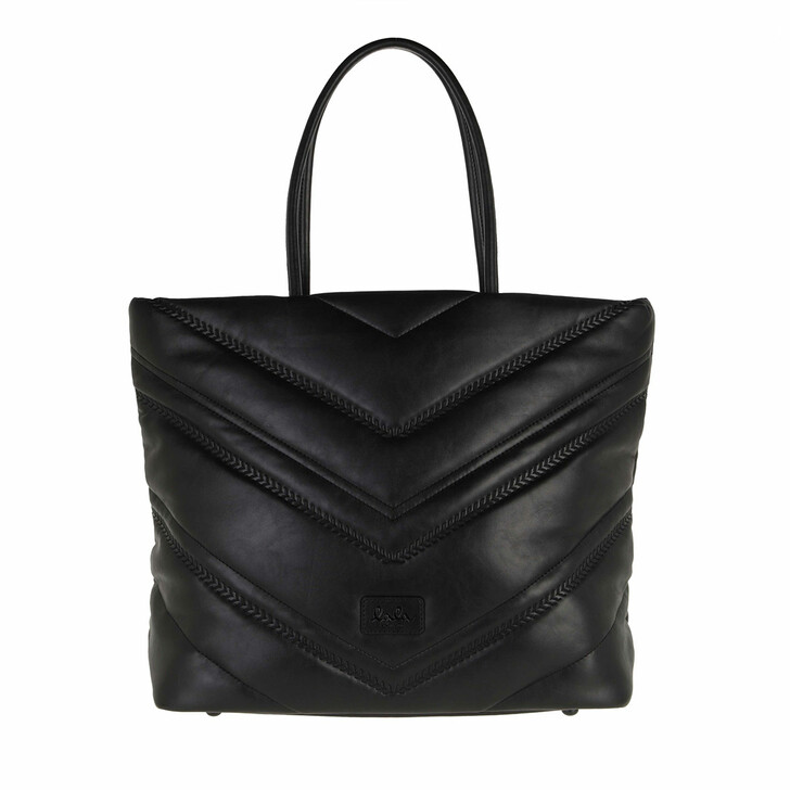 bags, Lala Berlin, East West Carly Black Quilted Pu