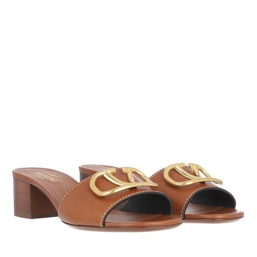 valentino garavani -  Pumps & High Heels - V Pumps Leather - in braun - für Damen