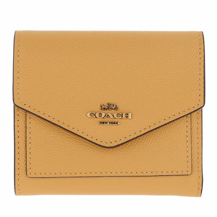 wallets, Coach, Crossgrain Leather Small Wallet Sunlight